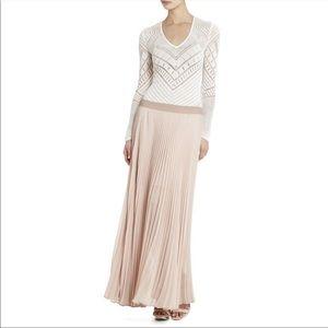 BCBGMaxAzria Estel Pleated Maxi Skirt Bare Pink